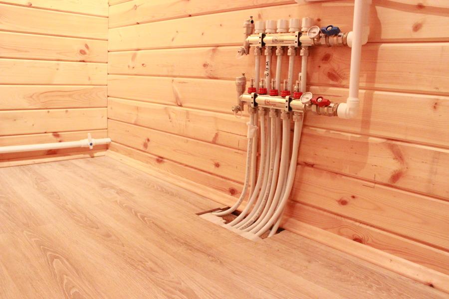 Тёплый пол в деревянном доме водяной